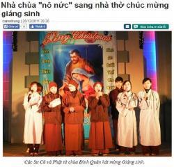 """Chuyện Dài Người Tự Xưng  """"Con Nhà Phật"""" Hát Mừng… Giáng Sinh"""
